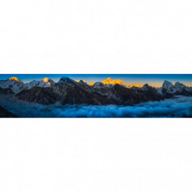 Lueur Coucher du Soleil Everest