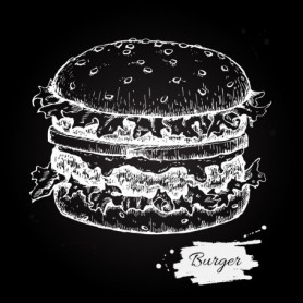 Burger Black & White