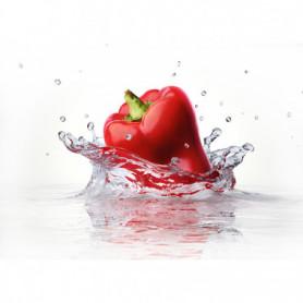 Splash Poivron Rouge Dans l'Eau