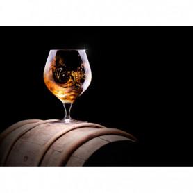 Verre de Cognac sur Tonneau