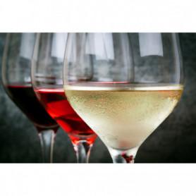 Verre de Vin Blanc, Rosé et Rouge